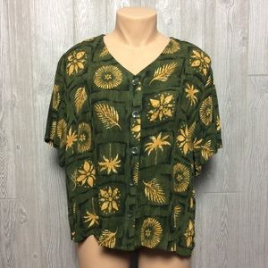Pretty Printed Blouse PLUS SIZE